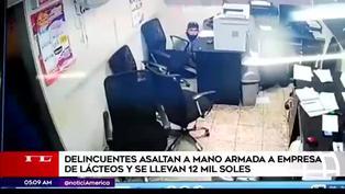 Delincuentes asaltan empresa de lácteos en San Juan de Miraflores