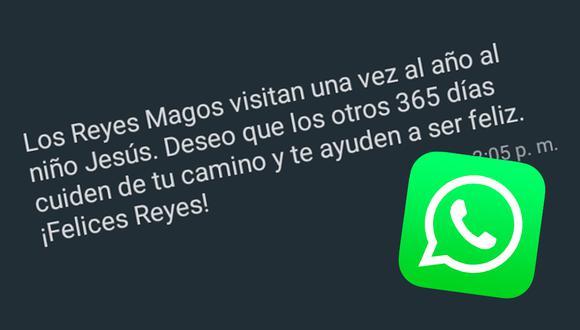 Estos son los mensajes más creativos que puedes enviar a tus amigos por WhatsApp por el Día de los Reyes Magos. (Foto: MAG)