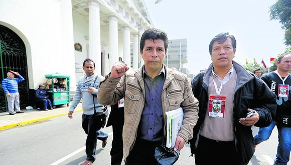 Castillo lideró el gremio hasta que postuló a la presidencia. (Foto: Alonso Chero / Archivo)