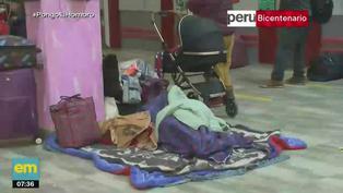 San Luis: Familias pasan la noche en terminal de Yerbateros