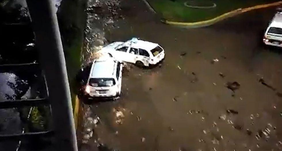 Las intensas lluvias que se reportaron desde ayer por la mañana en la ciudad y continuaron durante todo el día, ocasionando inundaciones en calles, viviendas, centros comerciales, terminales, entre otros lugares. (Foto: Captura Twitter)