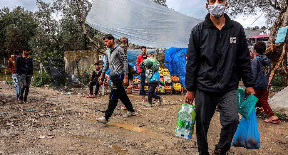 Grecia ordenó el confinamiento de un segundo campamento de refugiados luego que un residente diera positivo por coronavirus. (Foto: AFP/Manolis Lagoutaris)