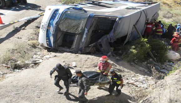 Puno: triple choque deja ocho muertos en vía Puno-Desaguadero