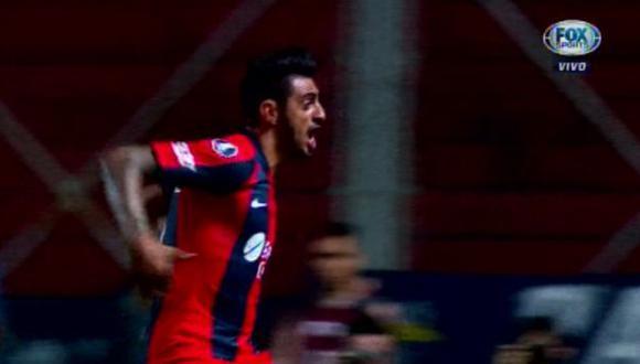 San Lorenzo vs. Junior: Román Martínez y la genial definición para el 1-0 en el Nuevo Gasómetro | Foto: Captura