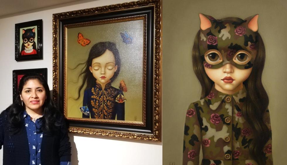 Flor Padilla es una artista con una historia muy inspiradora (Fotos: El Comercio/ Samantha Aguilar)