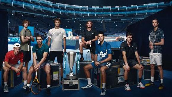 Los ocho tenistas que disputan el Masters de Londres. (Foto: ATP)