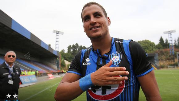 Alexander Succar llegó este año al Huachipato de Chile, club en el que está a préstamo hasta final de temporada. El delantero pertenece a Sporting Cristal. (Foto: Facebook de Huachipato)