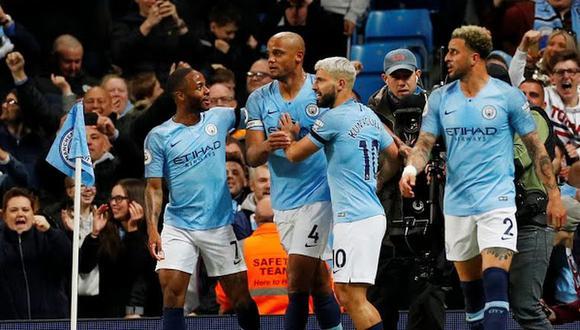 Manchester City derrotó 1-0 al Leicester por la jornada 37° de la Premier League en el Etihad Stadium. (Foto: AFP)