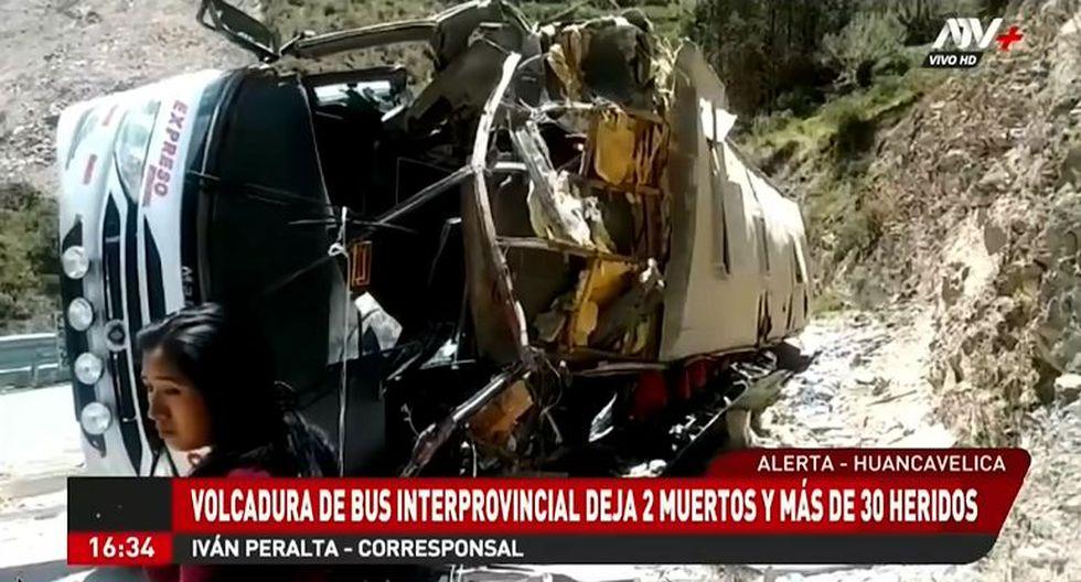 Los heridos fueron llevados al hospital Pampas. Una de las víctimas mortales fue identificada como Mirian Argomero López. (Foto: captura ATV+)