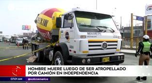 Independencia: hombre murió tras ser atropellado por camión