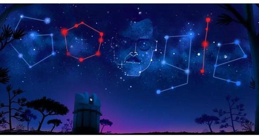 Google le dedicó su doodle del 21 de marzo al astrónomo mexicano Guillermo Haro Barraza, por cumplirse 105 años del natalicio del científico e investigador, quien además fue esposo de la escritora Elena Poniatowska. (Captura de pantalla)