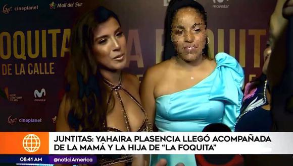 Yahaira Plasencia demostró que tiene una excelente relación con la hija de Jefferson Farfán. (Foto: Captura de video)