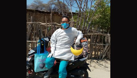 Gina Minaya tiene 34 años y trabaja para la Diresa-Piura. La moto se la compró con su propio sueldo. (Foto: Archivo Personal)