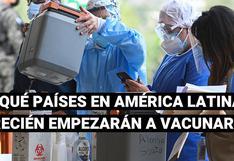 Estos son los países de América Latina que más demoraron en recibir las dosis de la vacuna