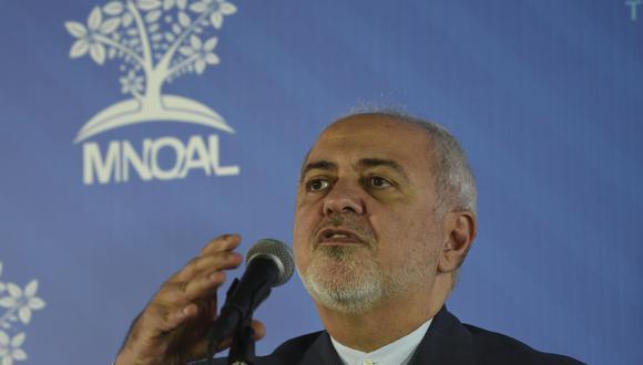 """El ministro iraní, Mohammad Javad Zarif, participó de la reunión ministerial del Movimiento de Países No Alineados en Caracas y saludó la """"resistencia"""" de Venezuela ante las sanciones de EE.UU. (AFP)"""