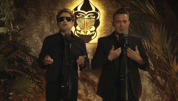 """Andrés Calamaro y Alejandro Sanz se reúnen para el lanzamiento de una nueva versión de """"Flaca"""". (Foto: Captura de video)"""