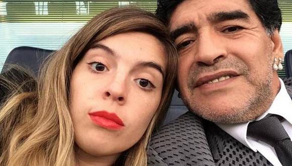 Maradona con su hija Dalma.