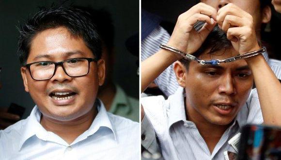 Así como los periodistas birmanos Wa Lone y Kyaw Soe Oo detenidos por vulnerar la ley de secretos oficiales, cientos de estos profesionales se hallan encarcelados en el mundo. (Foto: EFE)