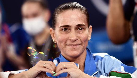 Chusovitina, la decana de la gimnasia, no estará en la final de Tokio-2020. (Foto: AFP)