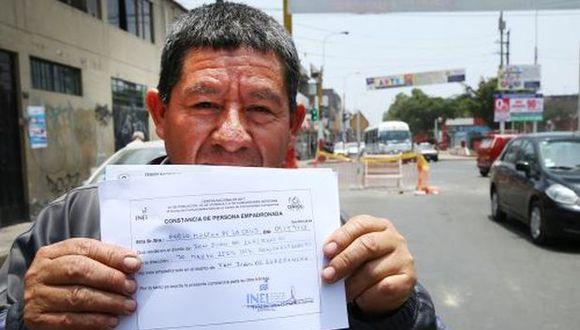 Este documento debe llevar el sello y la firma del empadronador. (Foto: Agencia Andina)