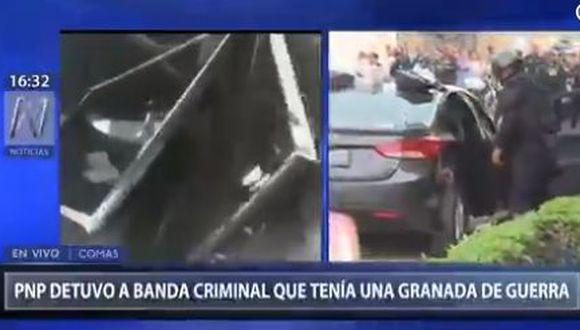 Los agentes notaron la presencia del vehículo de placa F2X-123 e inmediatamente lo intervinieron. (Foto: Captura Canal N)