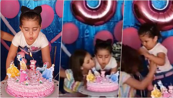 María Antonia (de rayas) y María Eduarda (la cumpleañera) se han convertido en las niñas brasileñas más populares del mundo por estos días.