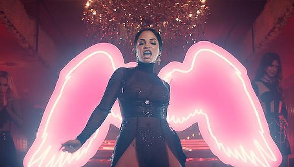 La cantante Natti Natasha demostró que puede ser un ángel y ala vez el diablo en su nuevo videoclip. (Foto: Captura de YouTube)