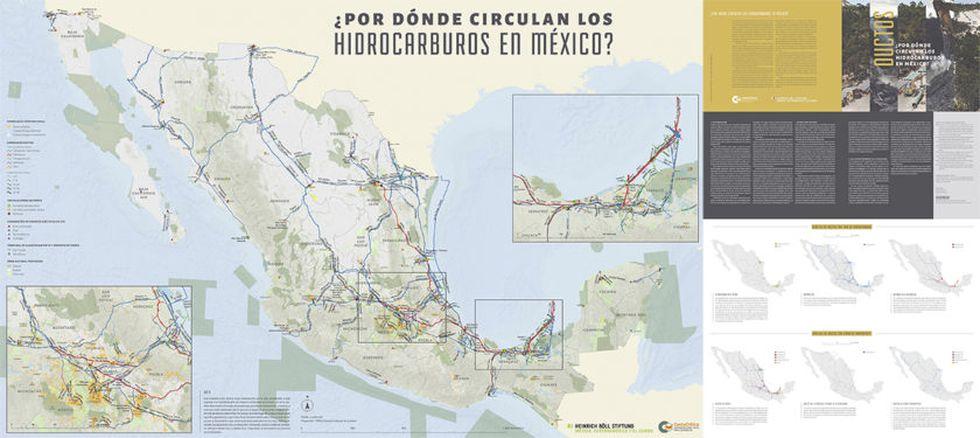 Los ductos en México. (Foto: CartoCrítica.org.mx).