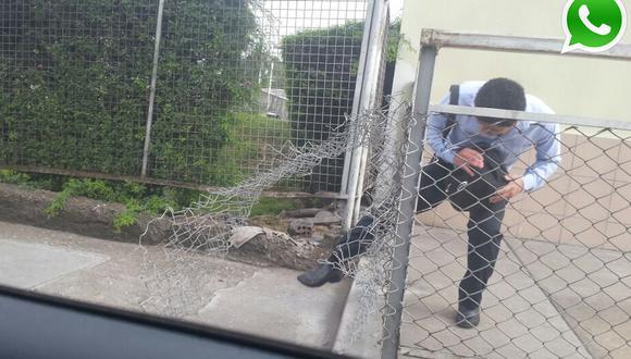 Vía WhatsApp: arriesgan vidas con un 'atajo' en Javier Prado