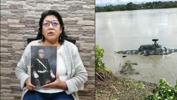 La madre del militar exigió al Mindef que coordinen con mayor prontitud la búsqueda y rescate de su hijo, pues tiene esperanza de que lo encuentren con vida. (Foto: Facebook/PNP)