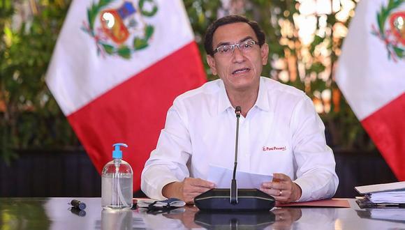 El presidente del Perú, Martín Vizcarra, anunció que los días 8 y 9 de octubre serán laborables. (Foto: Presidencia)