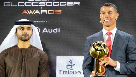 Cristiano Ronaldo ganó el premio al mejor Jugador del Siglo en la gala del Globe Soccer Awards. (Foto: @Globe_Soccer)