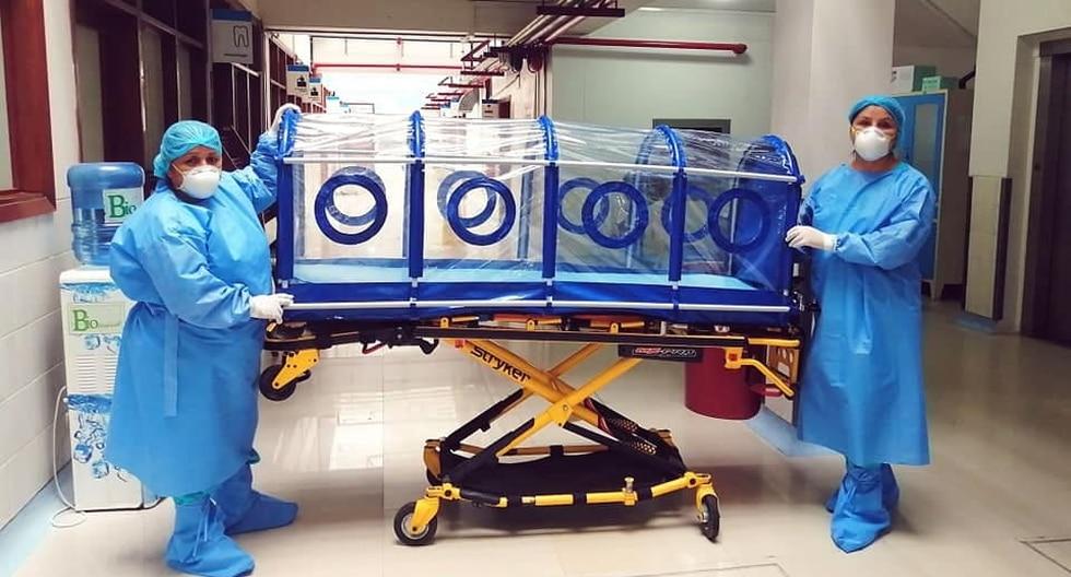 En la cápsula se podrá transportar a los pacientes graves con COVID-19 en Madre de Dios. (Foto: Essalud)