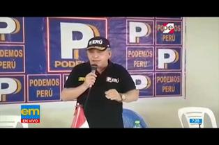 El accidentado inicio de campaña electoral de Daniel Urresti en Arequipa