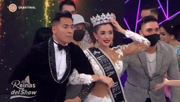 """Korina Rivadeneira gana """"Reinas del Show"""" y Milena Zárate ocupa el segundo lugar. (Foto: Captura América TV)."""