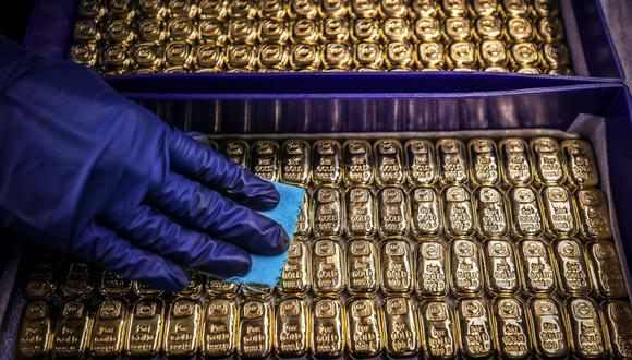 Los futuros del oro en Estados Unidos caían un 0,3%, hasta US$1.818,10. (Foto: AFP)