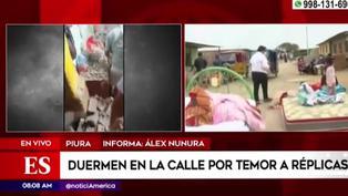 Piura: damnificados duermen en carpas y colchones ante riesgo de derrumbe de sus casas