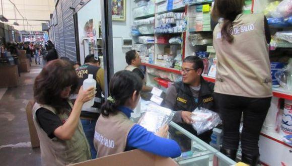 Cercado de Lima: incautan 4 toneladas de medicamentos ilegales
