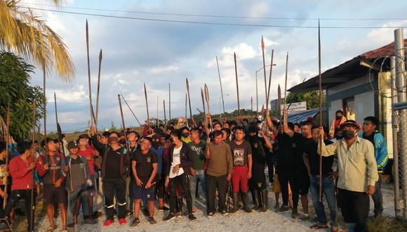 Loreto: el último 3 de agosto, un grupo de indígenas ingresaron a la estación 5 del Petroperú. (Foto: Difusión)