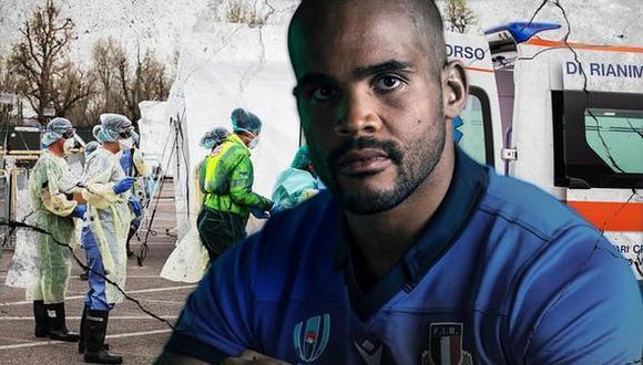 Mata Maxime Mbanda traslada enfermos de coronavirus en Italia (Foto: Twitter)