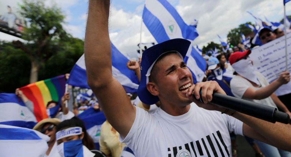 Carcache, estudiante de periodismo, fue detenido el 4 de septiembre. | Foto: AFP