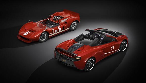 Este McLaren 650S Spider le rendirá homenaje al auto que utilizaron Bruce McLaren y Chris Amon en el Can-Am Challenge Cup. (foto: Difusión)