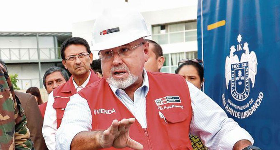 Carlos Bruce aclaró que la fiscalía no le ha abierto investigación por el Caso Los Temerarios del Crimen. (Foto: Ministerio de Vivienda)