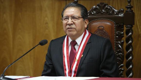 El fiscal de la Nación dijo que prefiere no comentar sobre un eventual indulto al ex presidente Alberto Fujimori. (Foto archivo El Comercio)