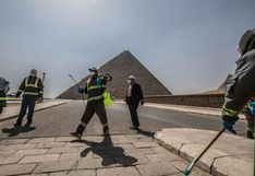 Fumigan pirámides egipcias por el nuevo coronavirus   FOTOS