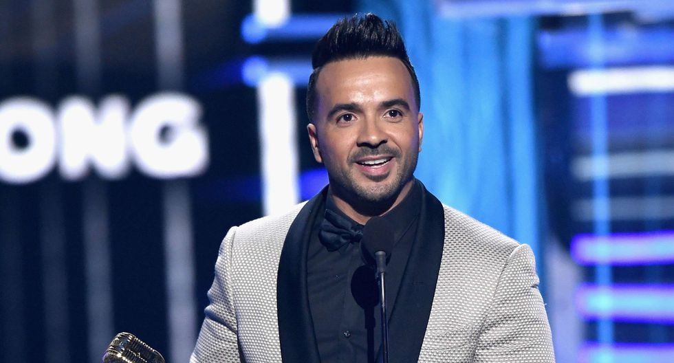 "Billboard 2018. Luis Fonsi, ganador del premio Top Canción hot 100 por ""Despacito"". (Foto: AFP)"