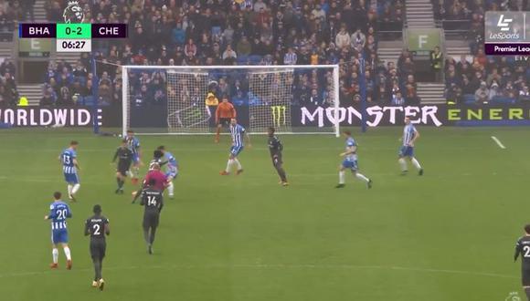 YouTube: fenomenal doble asistencia de taco para gol de Chelsea. (Foto: Captura de YouTube)