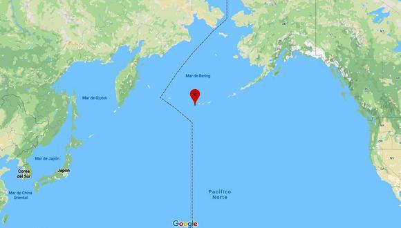 Un sismo de regular intensidad se reportó en la costa de Alaska. (Foto: Google Maps)