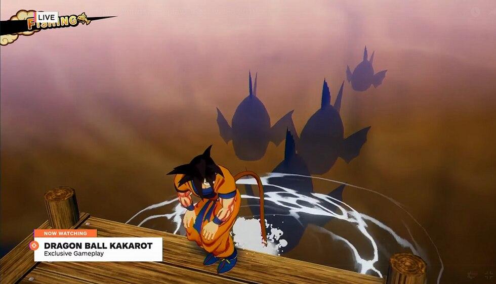 El Modo Pesca es un de los minijuegos de Dragon Ball Z: Kakarot. (Captura de pantalla)