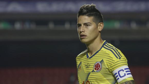 Colombia vs. Perú: es posible que James Rodríguez sea titular en el compromiso. (AFP)